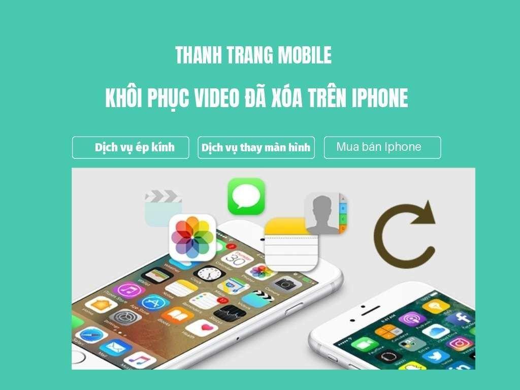 khoi phuc video daoa tren iphone