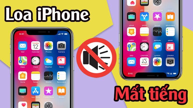 sua iPhone XR mat am thanh