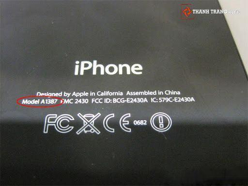 Có thể phân biệt Iphone bản CDMA và bản GSM dựa vào mã model ở sau máy (trên hình là CDMA)
