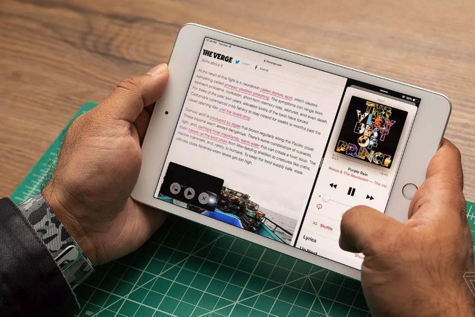 Trải nghiệm màn hình rộng rãi trên iPad mini 5